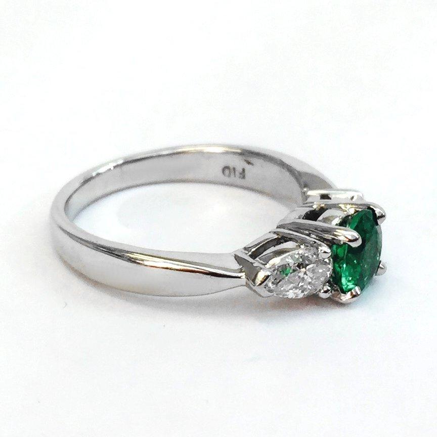 platinum emerald and ring argo lehne jewelers