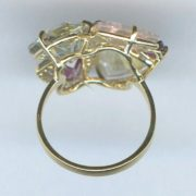 Yellow gold multi-gem ring 2