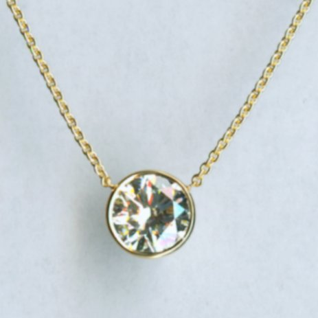 Yellow gold diamond pendant 1