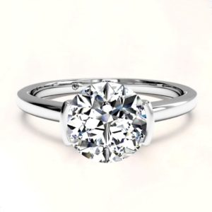 White gold ring mounting