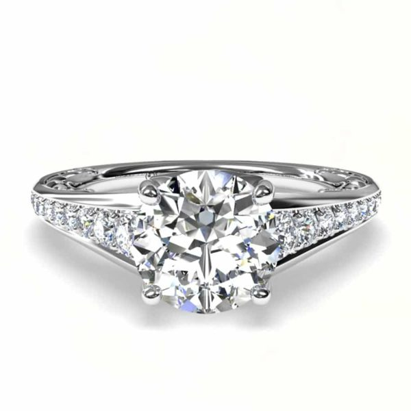 White gold diamond ring mounting 1