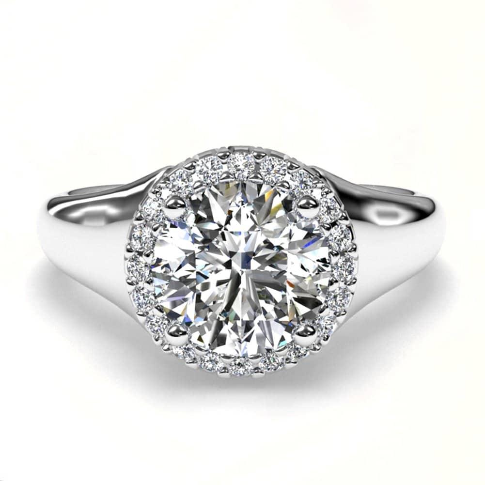 White gold diamond ring mounting