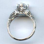 Platinum diamond ring mounting 2