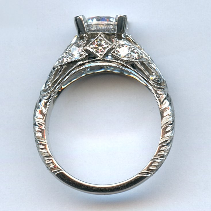 platinum ring mounting argo lehne jewelers