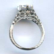 Platinum diamond ring mounting 2