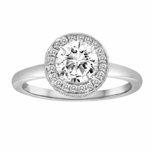 White gold diamond ring mounting