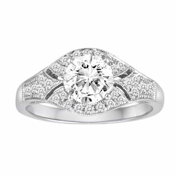 White gold diamond ring mounting 1