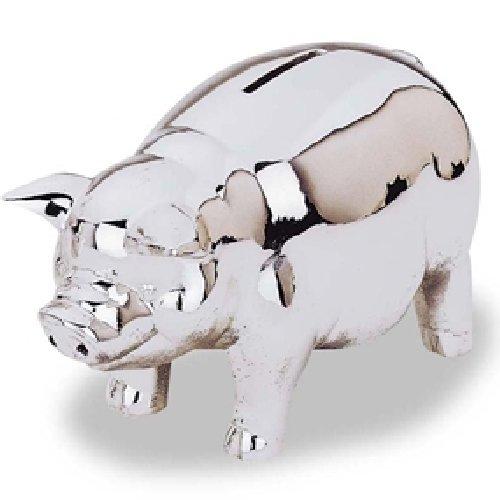 Silver plate piggy bank 1
