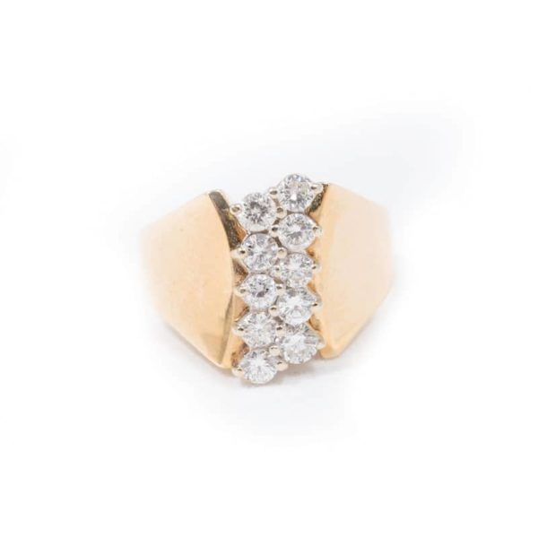 YELLOW GOLD DIAMOND RING 1
