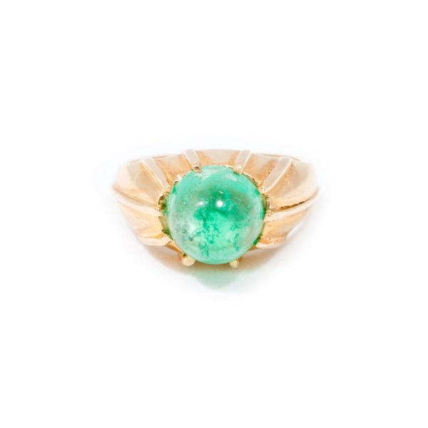 YELLOW GOLD EMERALD RING 1