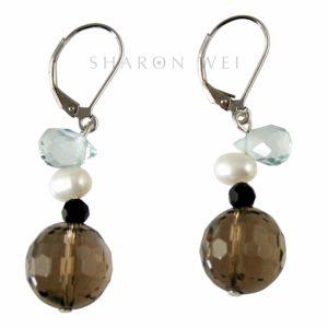 DS0215E Iced Chai Earrings SMKY.Q CYH FWP