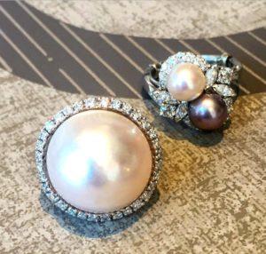 Vintage Pearl Rings