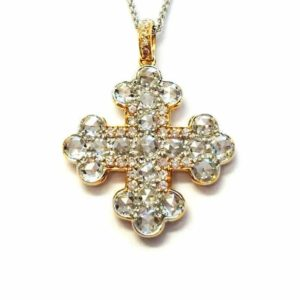 Gold Diamond Cross Pendant | Argo & Lehne