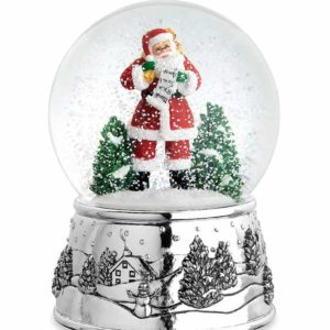 375507 sant snow globe