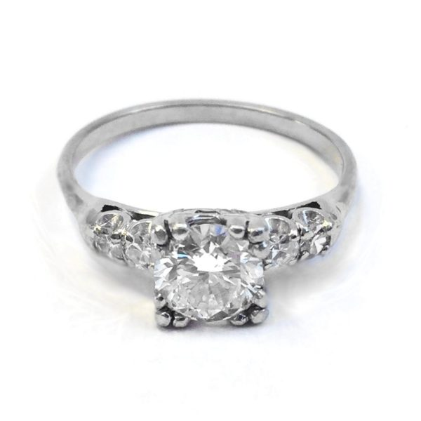 platinum and white gold vintage diamond ring , Argo \u0026 Lehne Jewelers