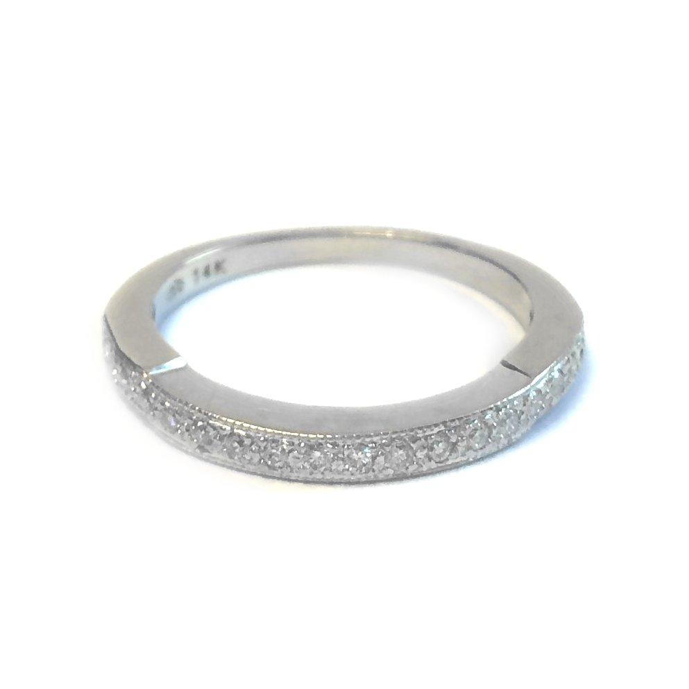 Something Borrowed Wedding Band: WHITE GOLD DIAMOND WEDDING RING